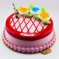 Strawberry - Flower Cake