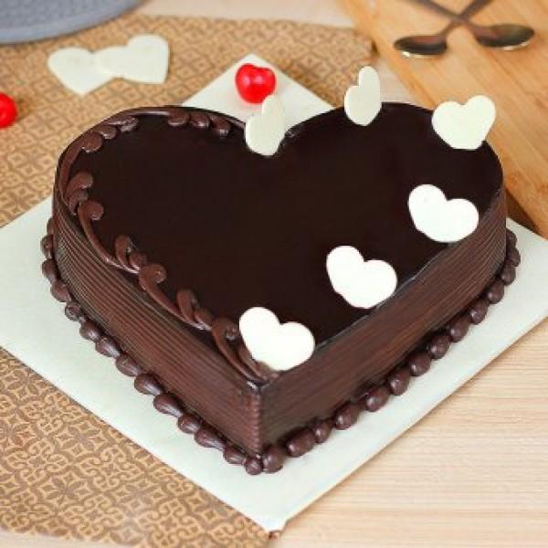 Truffle Heart Cake