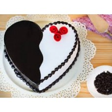 You & Me - Choco Vanilla Heart Cake