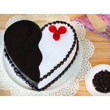 You & Me - Choco Vanilla Heart Cake