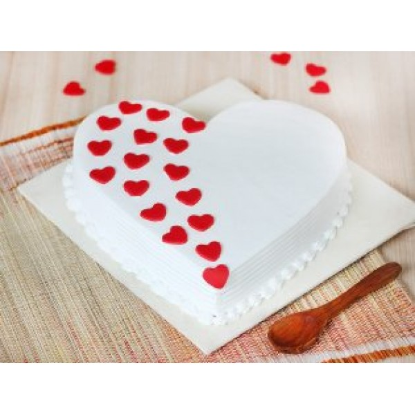 Beloved Heart Vanilla Cake