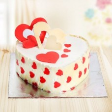 Melody of Hearts Fondant Cake