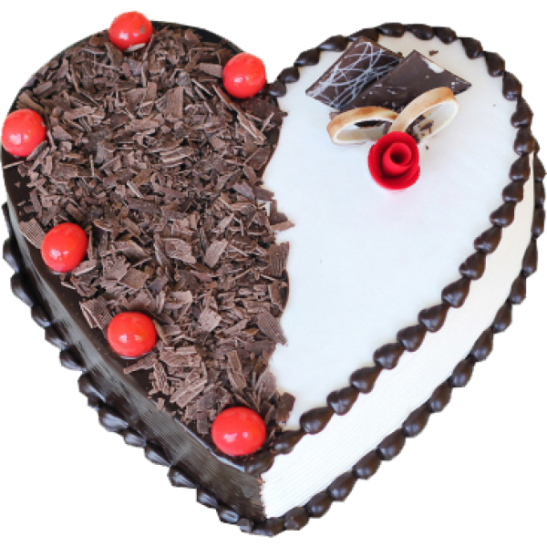 Heart Touching Blackforest Cake