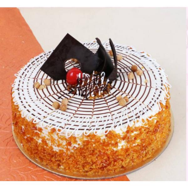 Crunchy Butterscotch Cake
