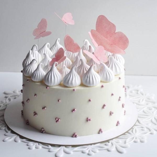 Butterfly Vanilla Cake